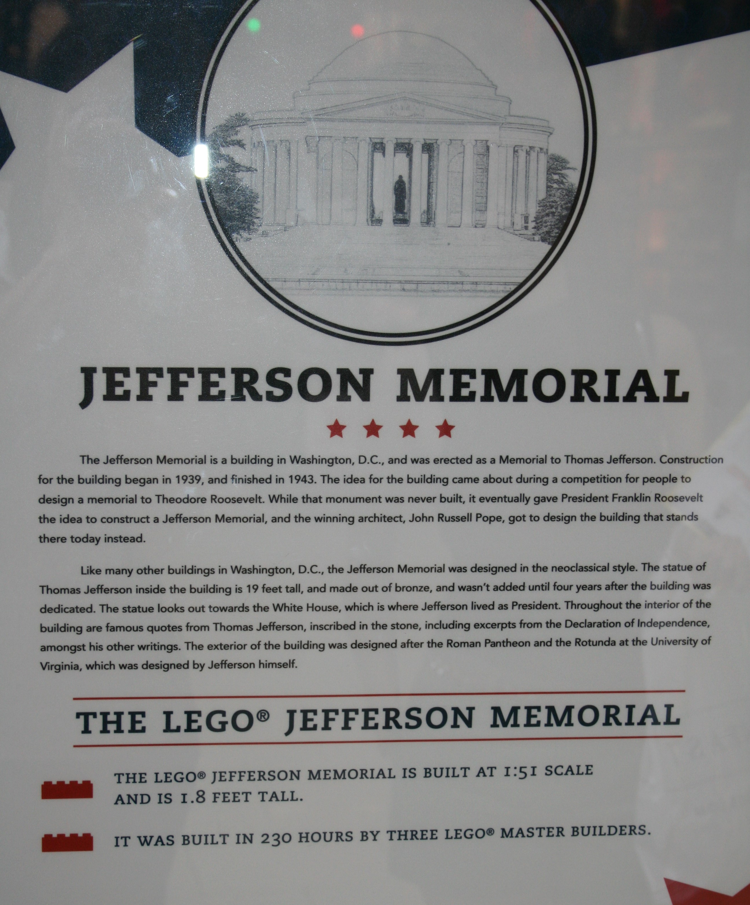 Jefferson Memorial Writing