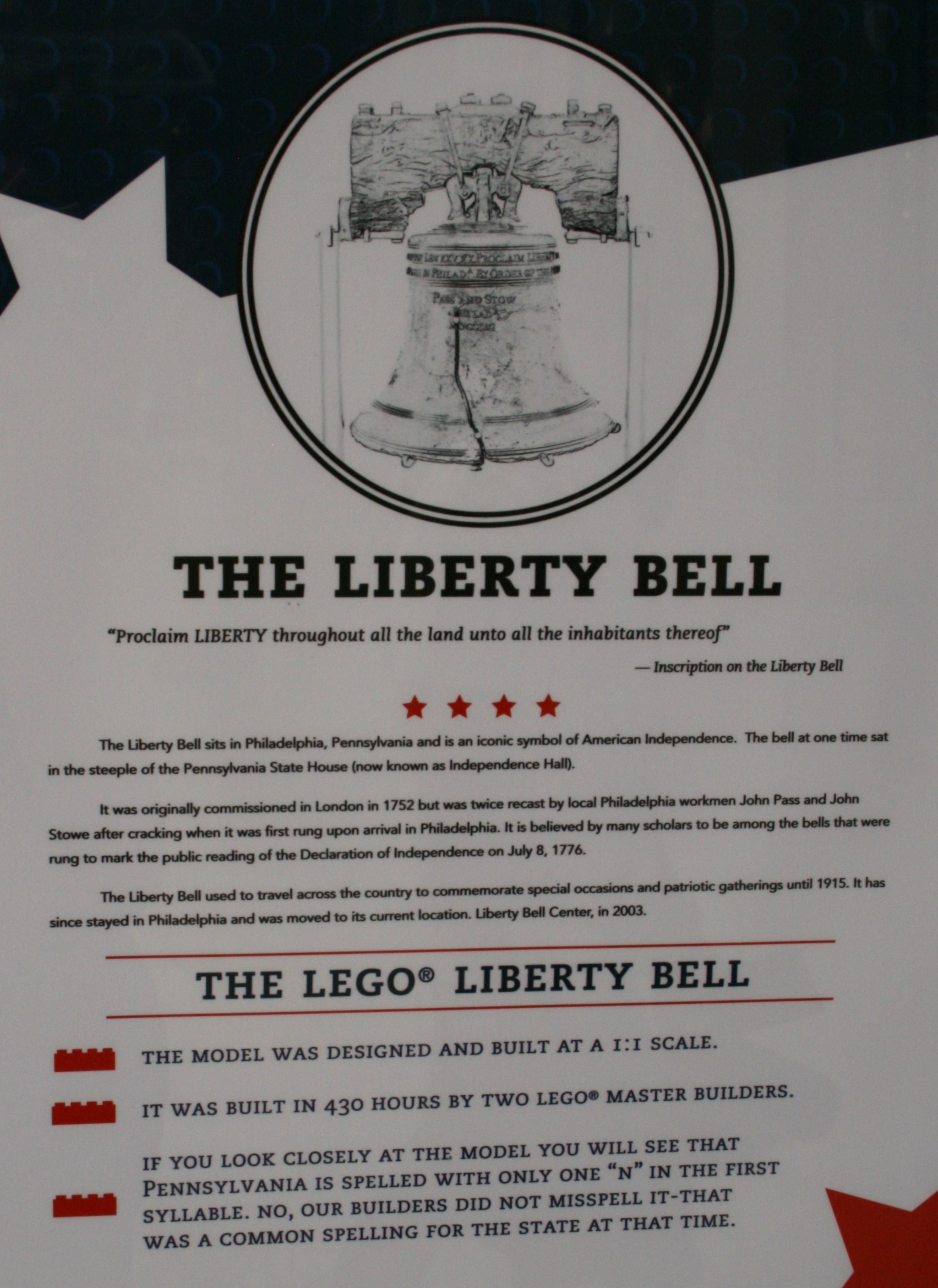 Liberty Bell Writing