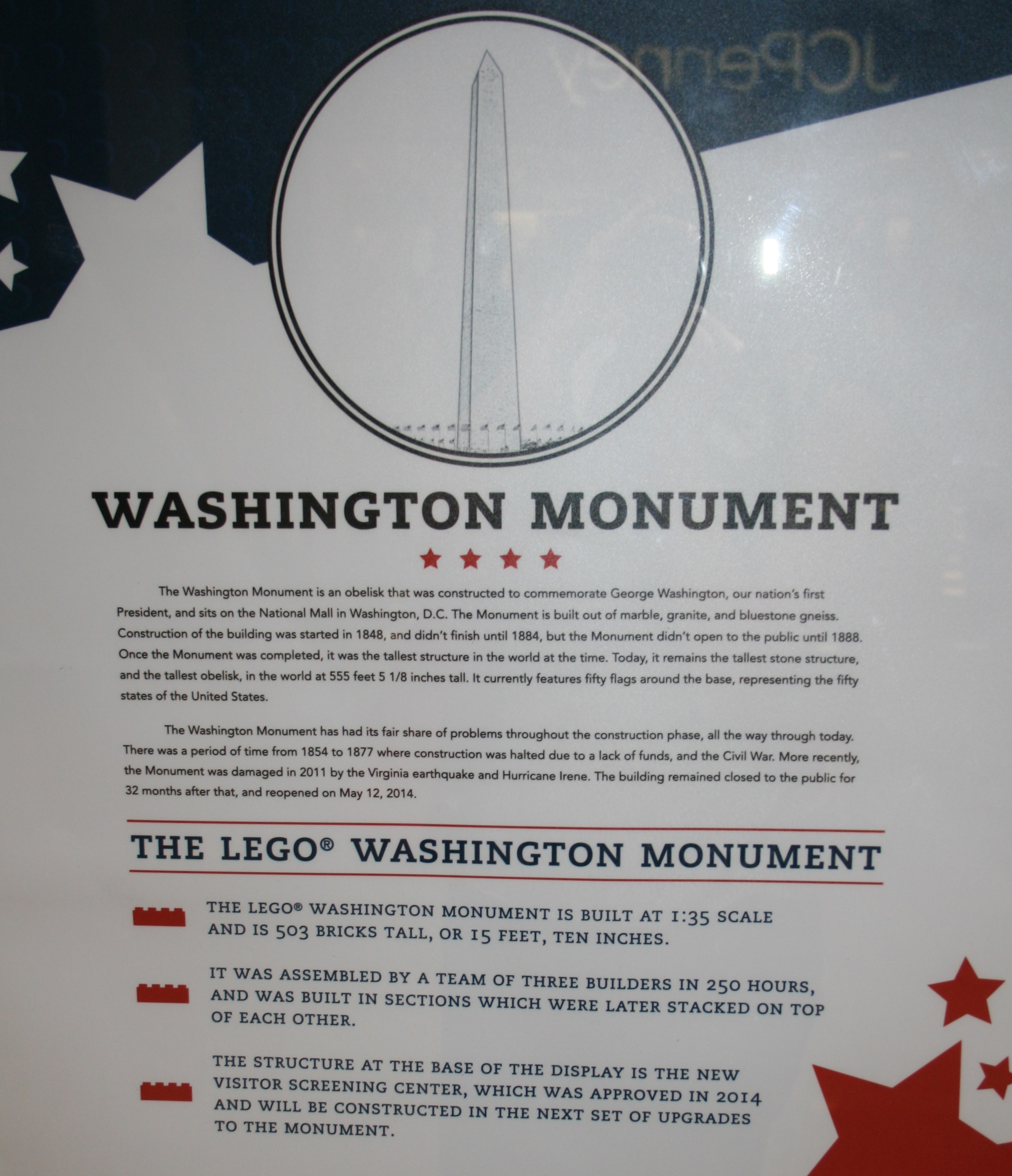 Washington Monument Writing