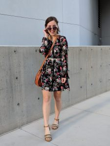 floral dress, Francesca's, fall dress, fall fashion