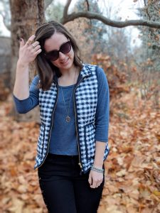 JCrew Mercantile gingham vest