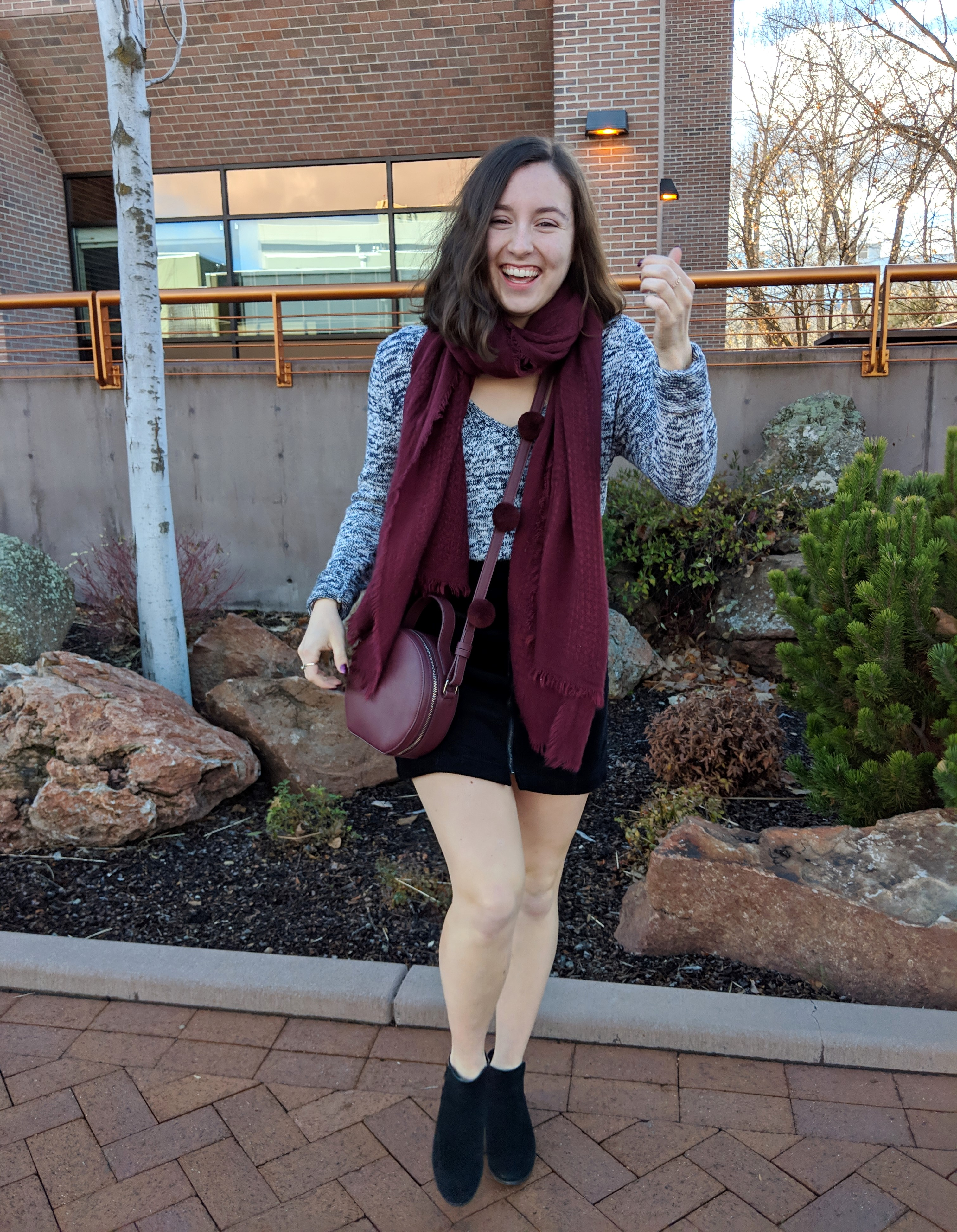 stylish maroon accessories and sweater weather