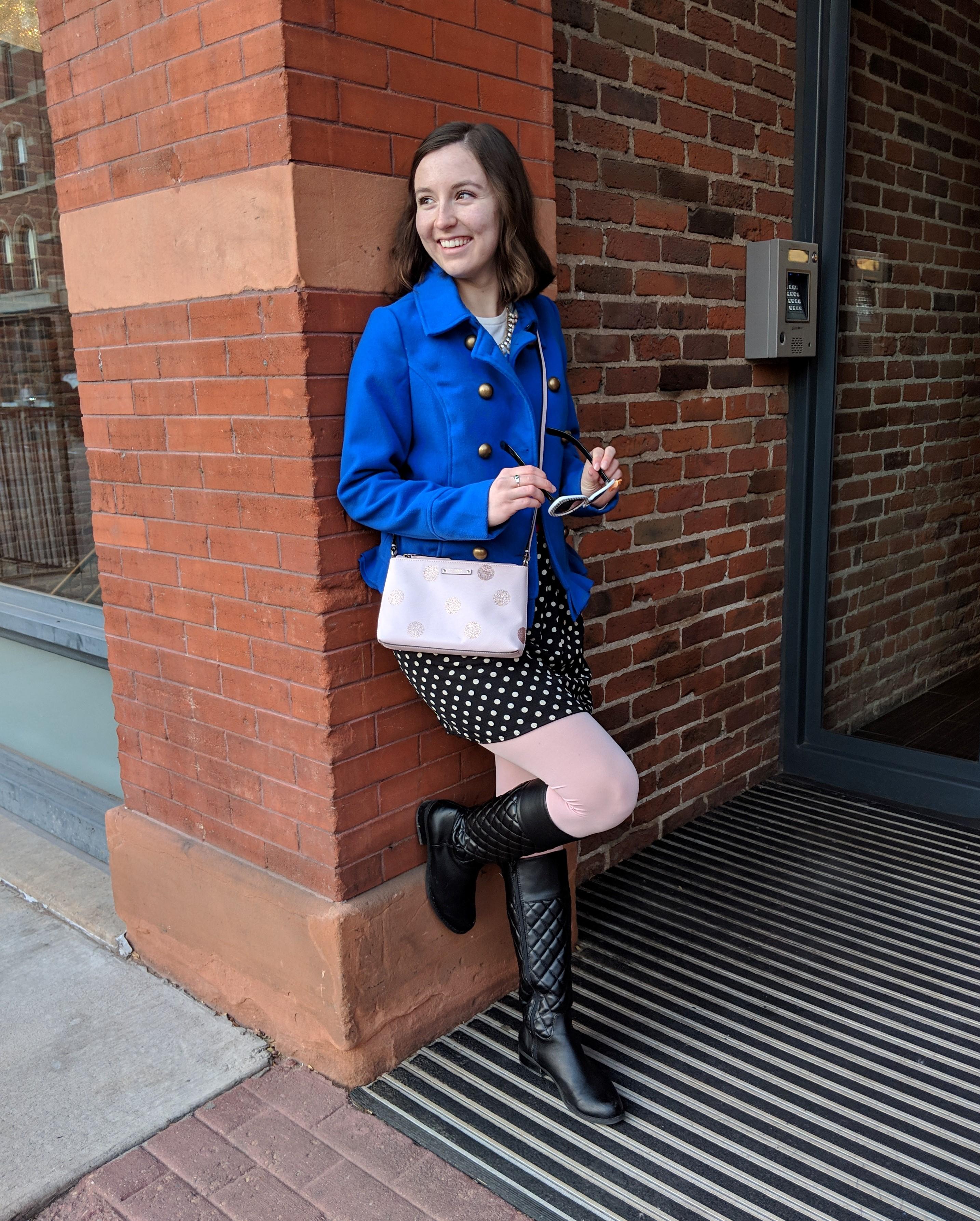polka dot Kate Spade purse