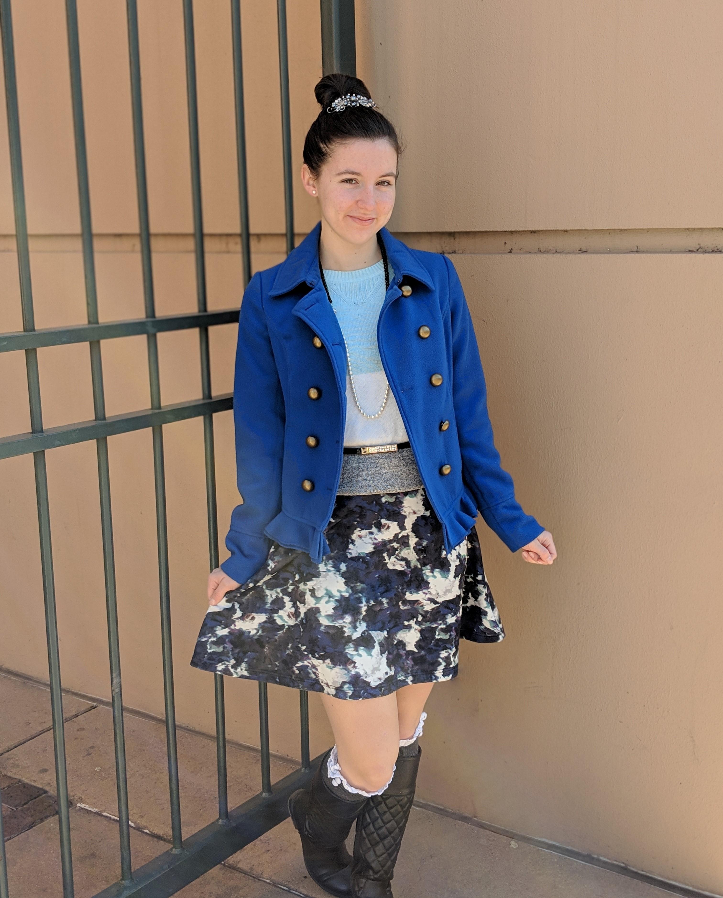 Francesca's coat and dress