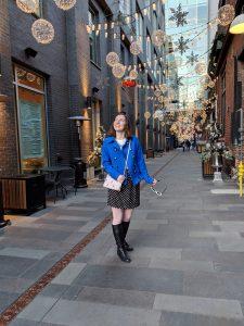 polka dots blue cobalt Christmas lights Denver