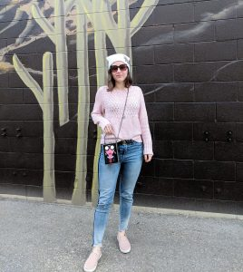 street style box purse quilted sneakers
