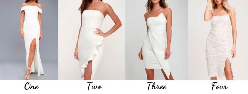 white cocktail dresses, white dresses