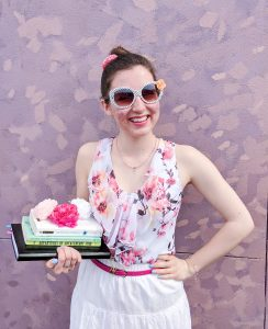 spring outfit, Easter outfit, polka dot sunglasses