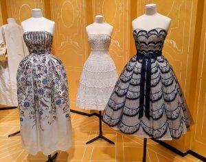 vintage fit-and-flare Dior dresses