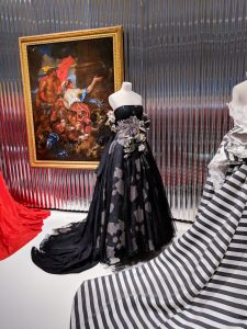 black Dior embellished ball gown