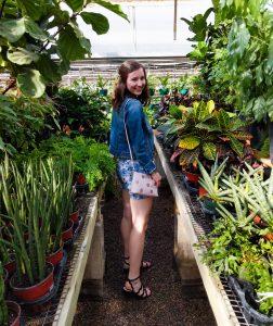 pink Kate Spade New York purse, greenhouse photos, gold hair pins