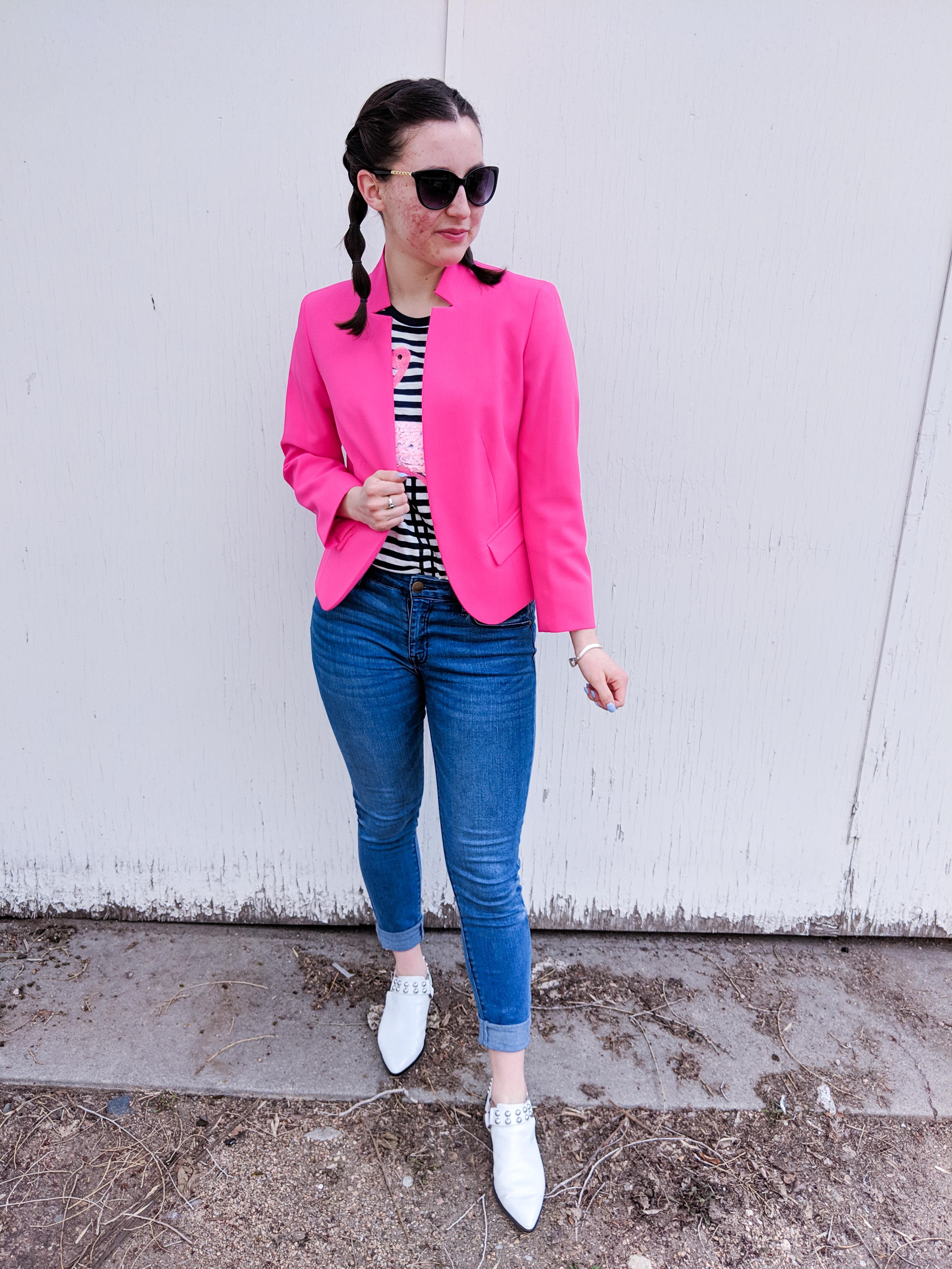 how to dress down a blazer