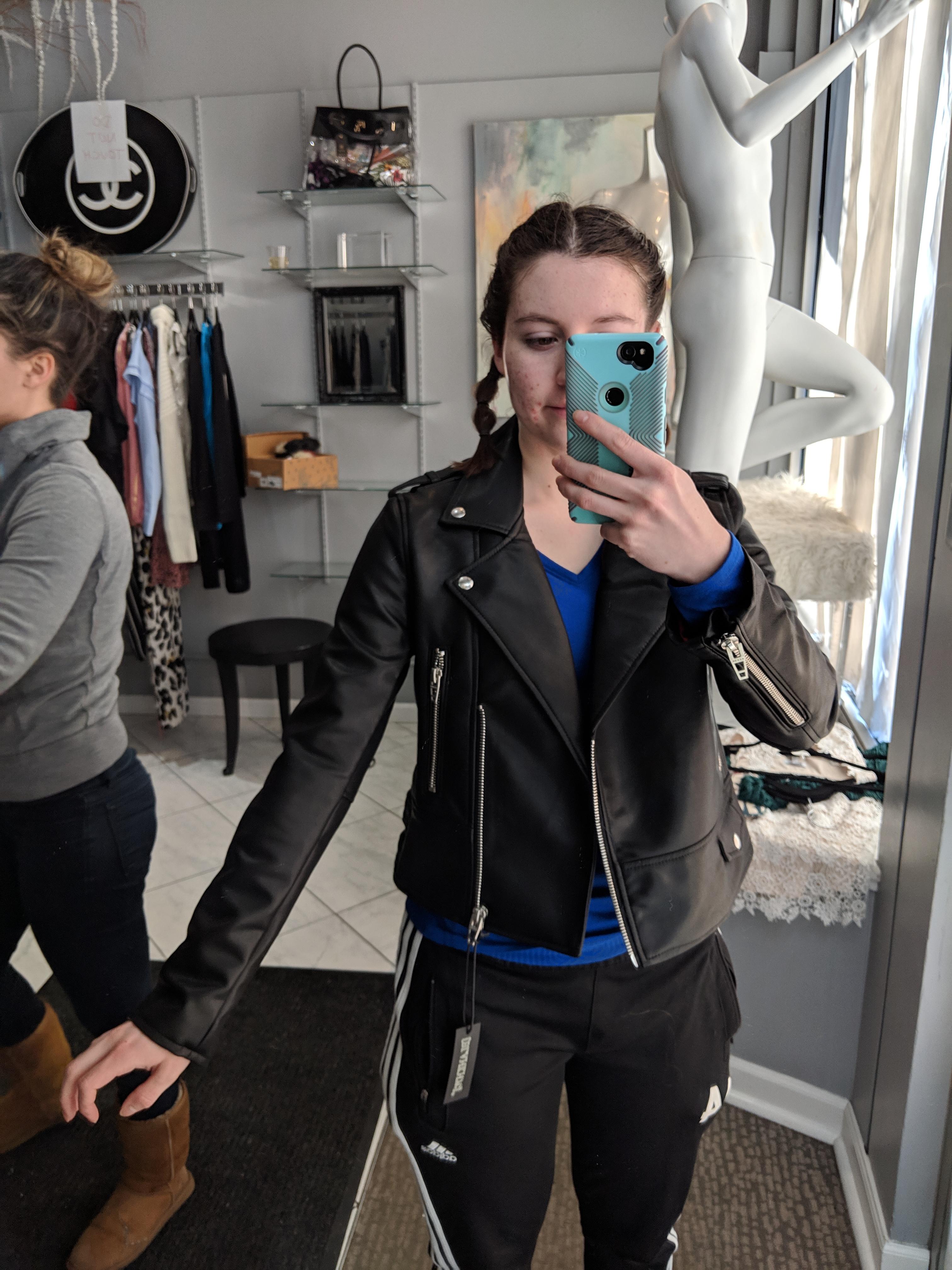 crazy sale, Gracie's boutique, pleather jacket