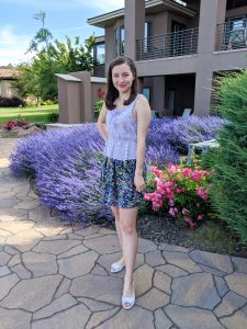 Graceful Rags Blog, summer outfit, girly, pattern mixing