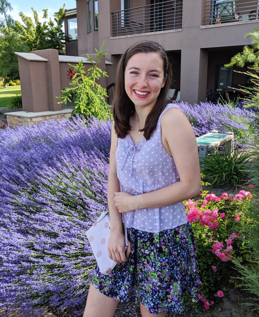 Purple outfit, lavender, Francesca's, freshman 15