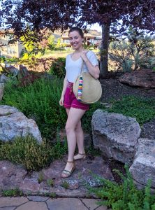 capsule wardrobe, pink shorts, summer outfit