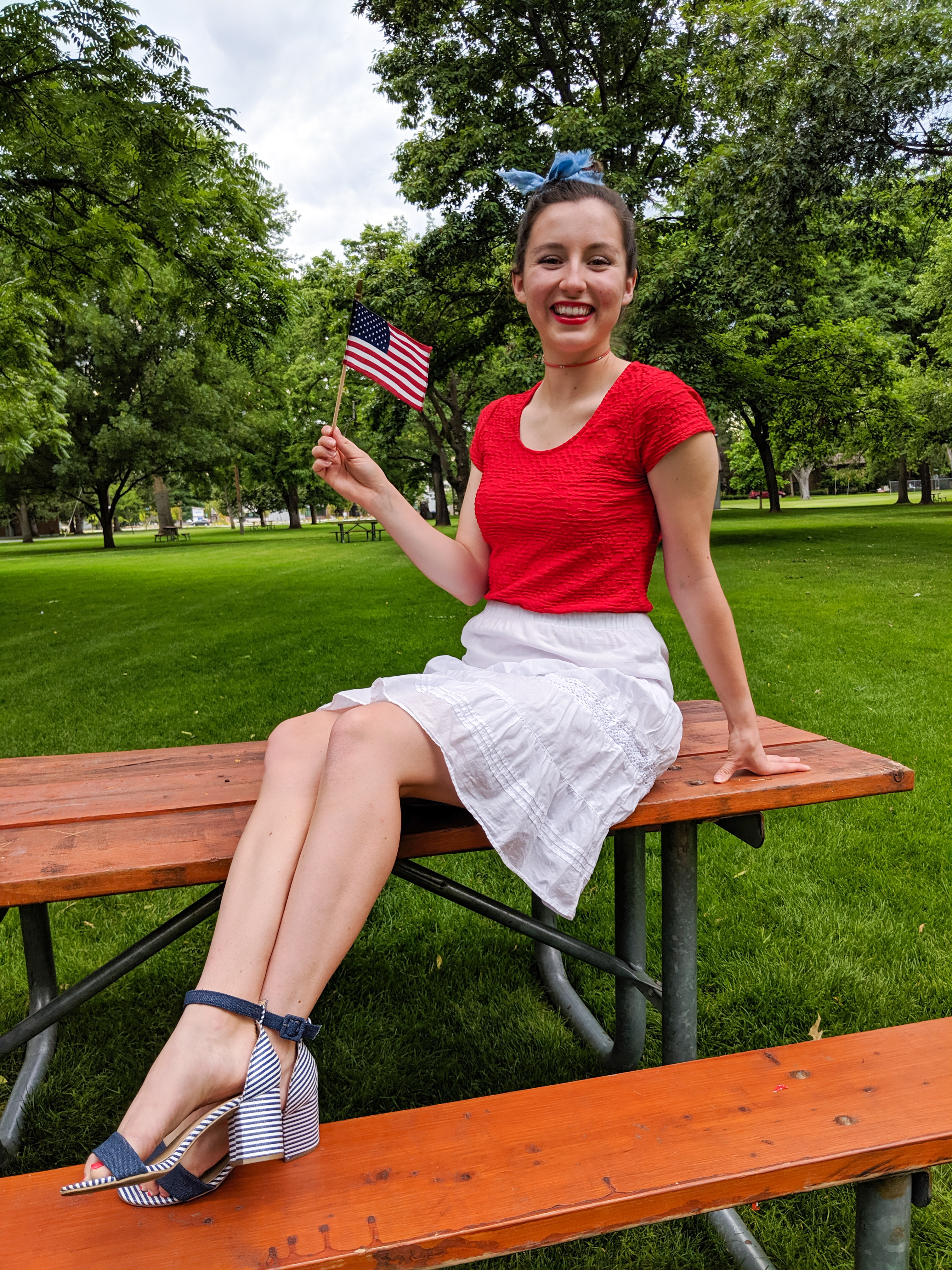 Independence Day, patriotic outfit, stars and stripes