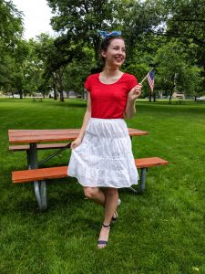 red white and blue, patriotic outfit, Independence Day, JCPenney
