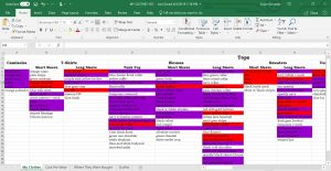 my clothing, clothing log, cost per wear, excel spreadsheet