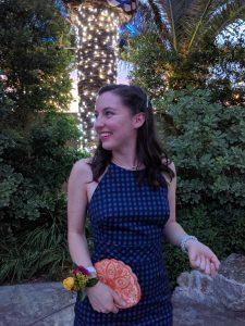 Sunset, summer wedding, wedding guest, navy blue dress, gingham