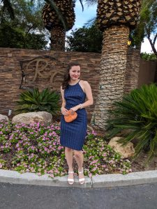 Wedding Guest attire, banana republic dress, Las Vegas wedding