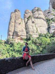 Montesserat, Barcelona, mountain views, Spanish fashion