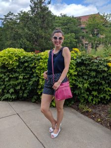 back to school, summer outfit, college campus