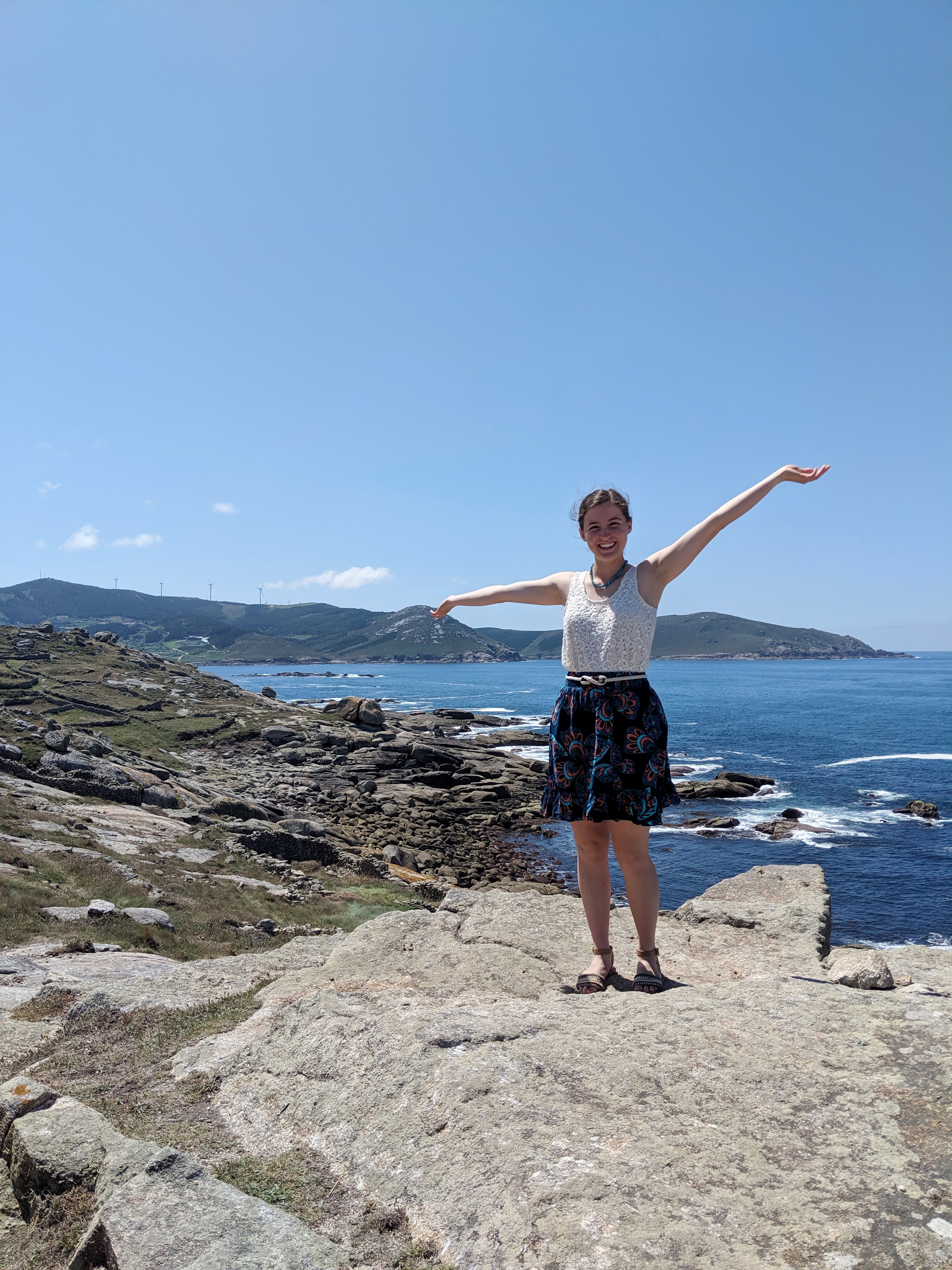 Muxia, Spain, Atlantic Ocean, summer outfit, JCPenney, DSW