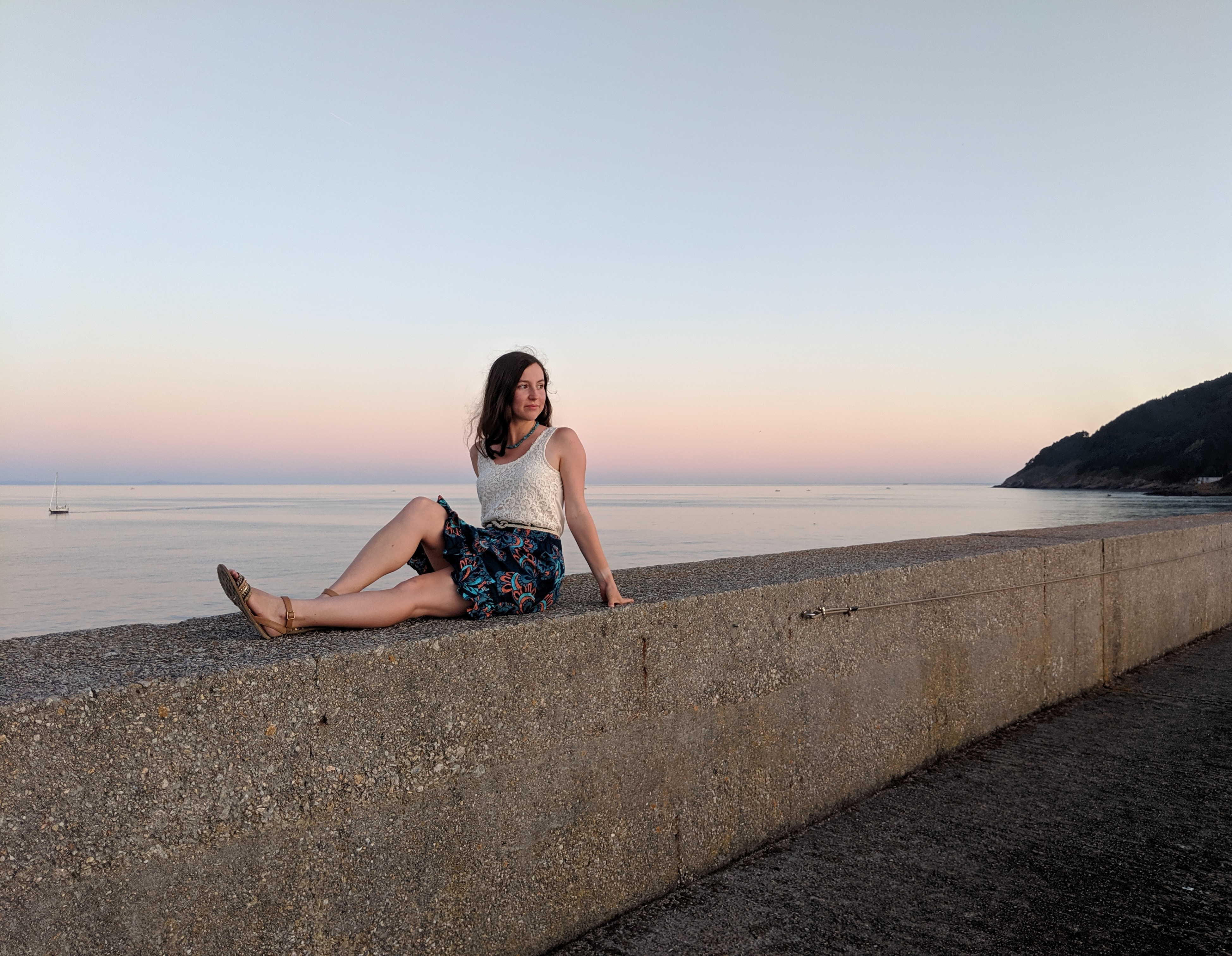 Finisterre, Spanish sunsets, crochet top, summer outfit, summer travels