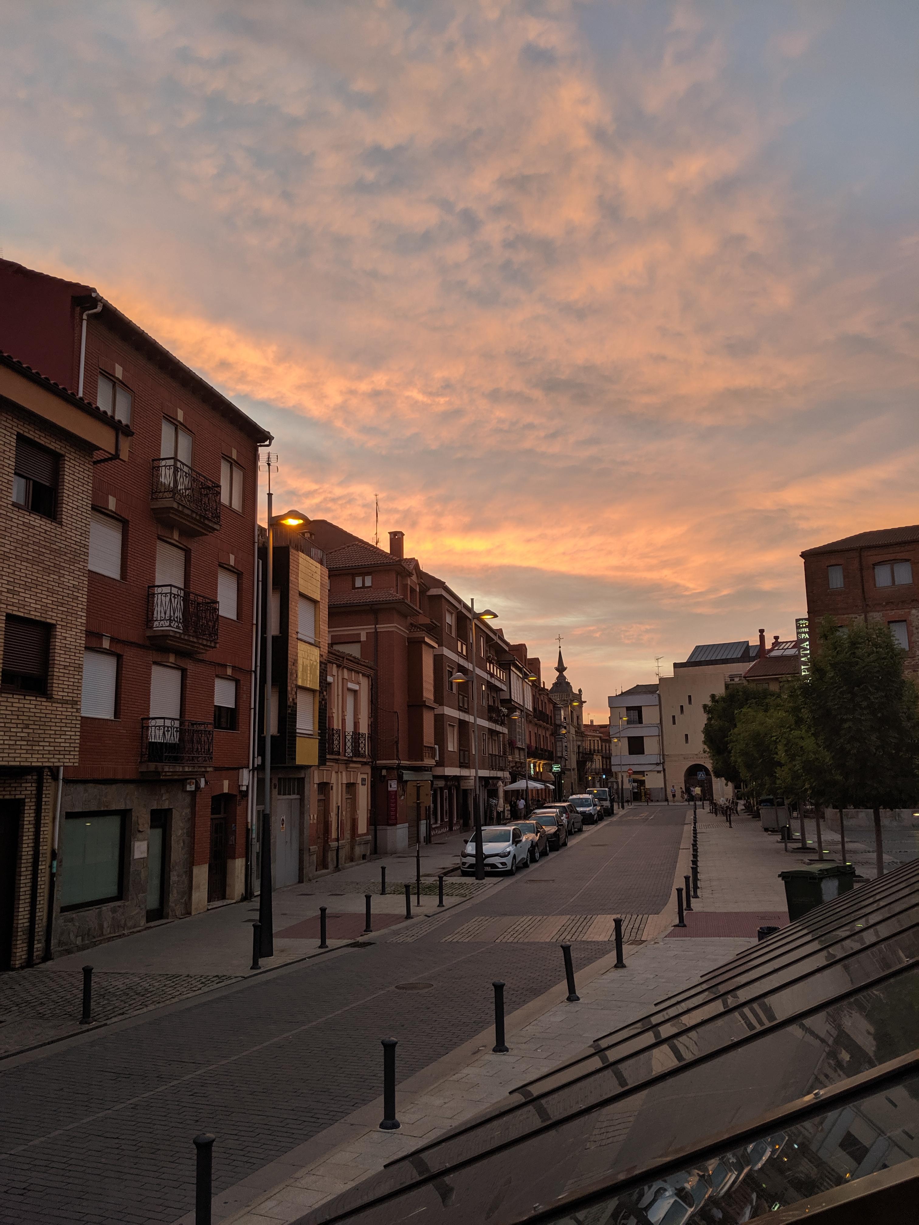sunsets, Spain, el Camino
