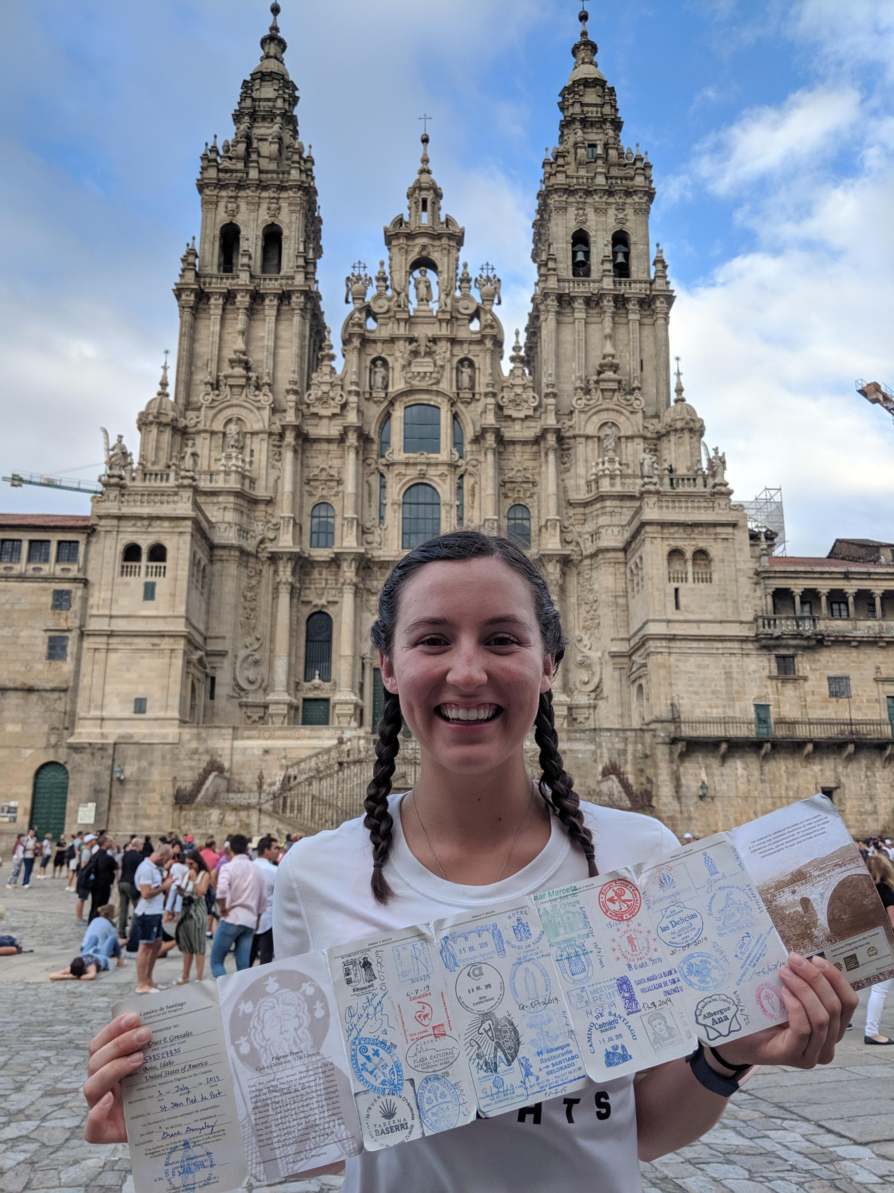 pilgrim passport, pilgrim credential, sellos