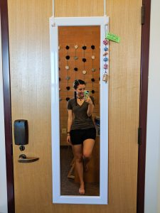 over-the-door mirror, pom pom garland