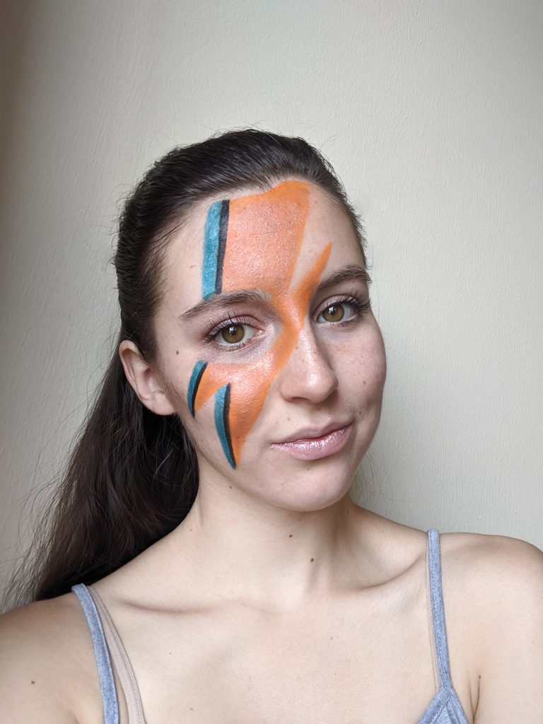 Ziggy Stardust, Aladdin Sane, face paint, halloween costume