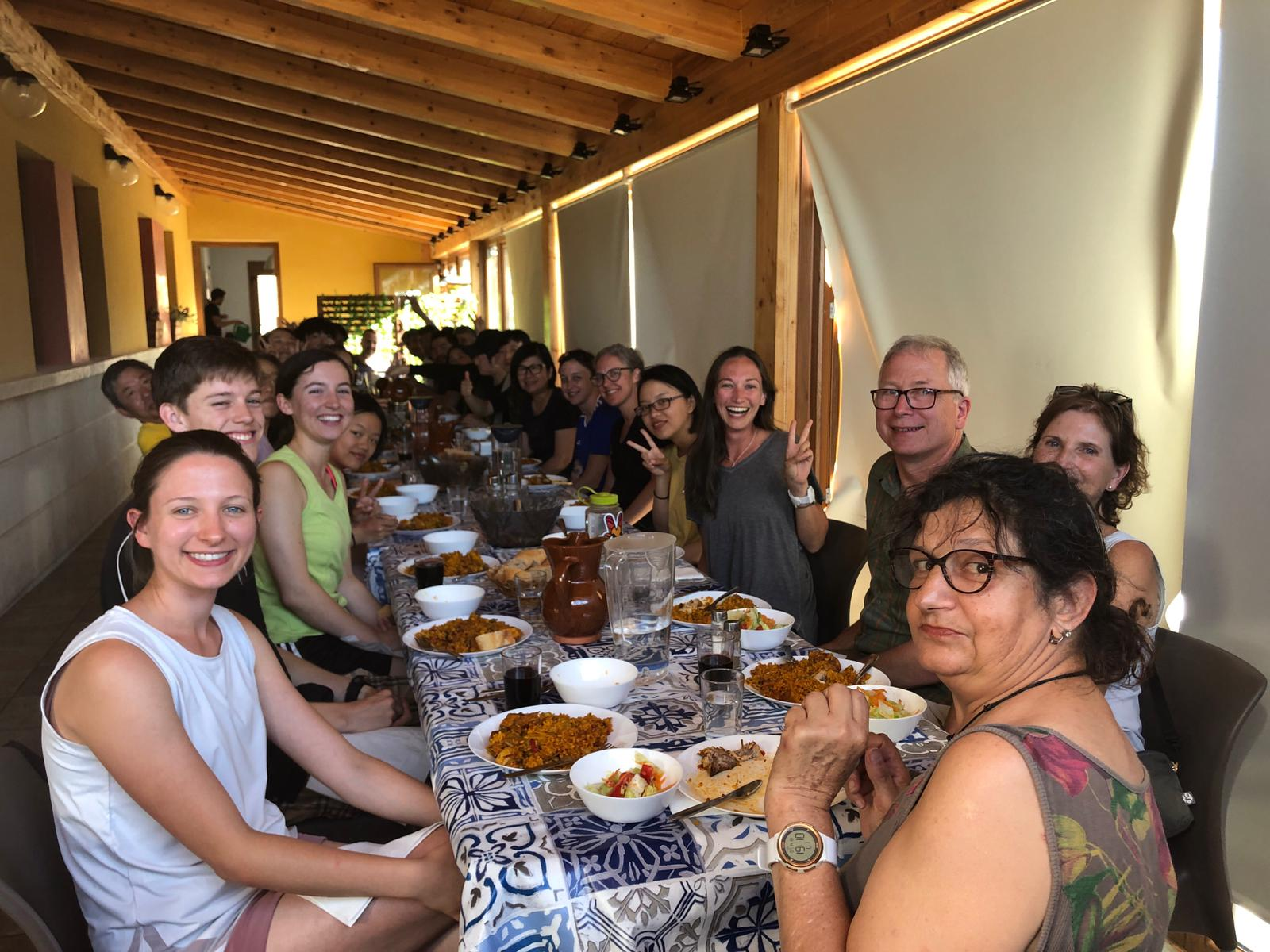 Camino lifestyle, pilgrimage, hostels, communal dinner