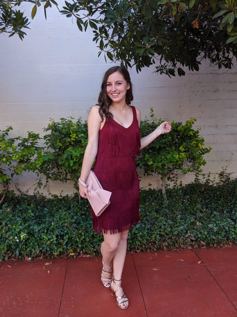 Denver fashion blogger, red fringe dress