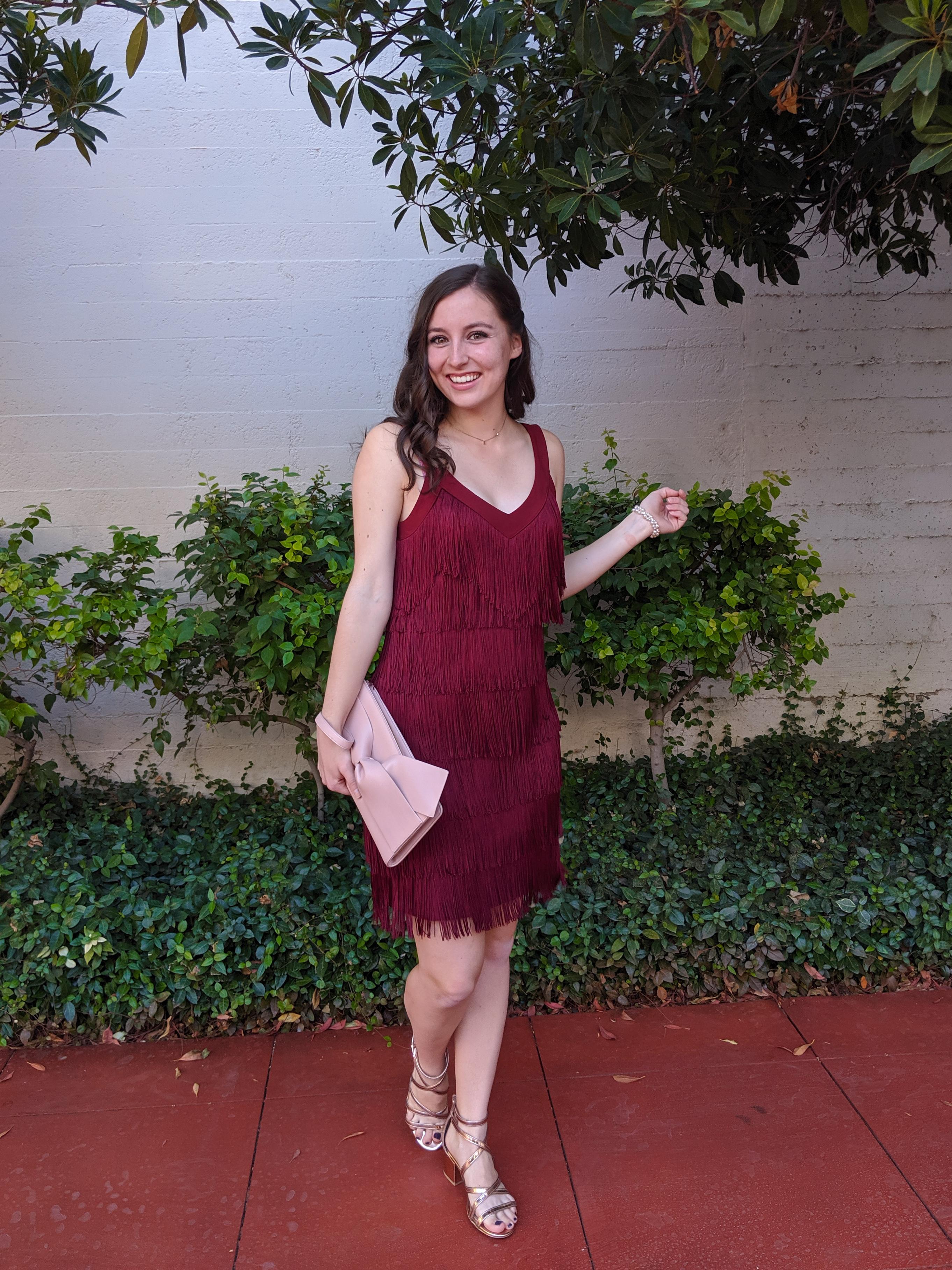 Denver fashion blogger, red fringe dress