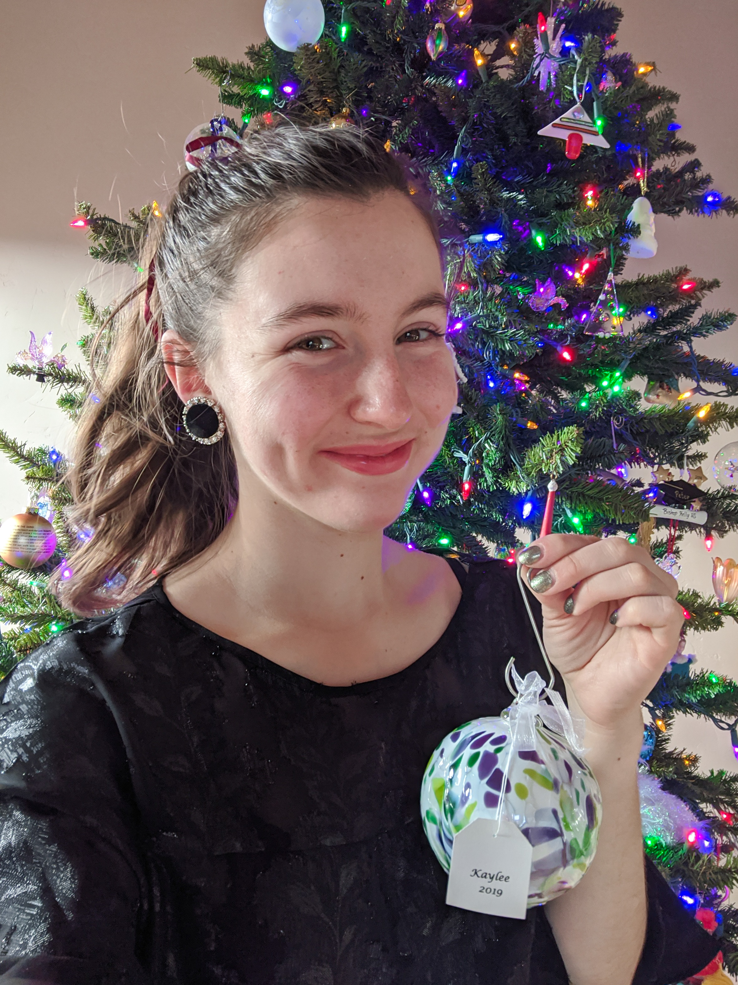 Christmas presents, Christmas tree, ornaments, childhood cancer