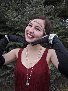 flapper girl makeup, bowed lipstick, matte liquid lip, liquid eyeliner
