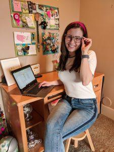 fashion blogger, clothes shopping, tuxedo stripe jeans