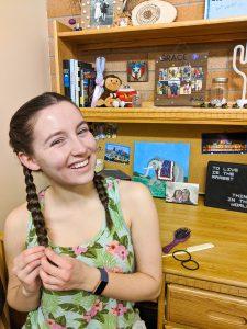 braiding your hair, French braids, wavy hair