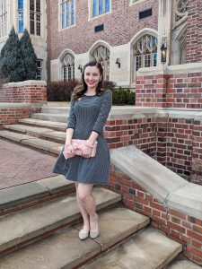 old fashioned dress, bow clutch, heirloom piece, hand-me-down