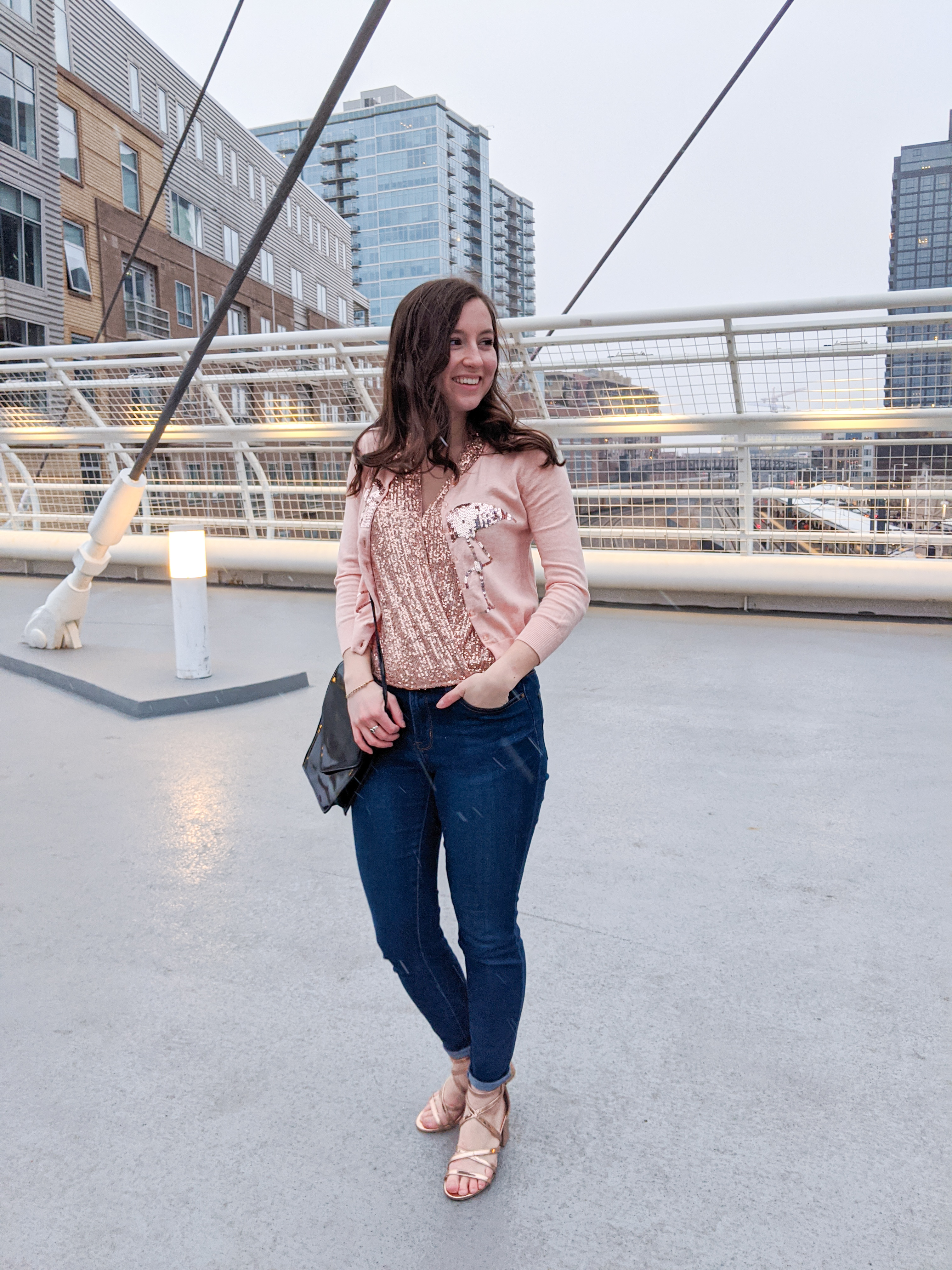 self-love, Valentine's Day, rose gold, sequin blouse