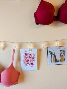 card collection, bra shopping, bras