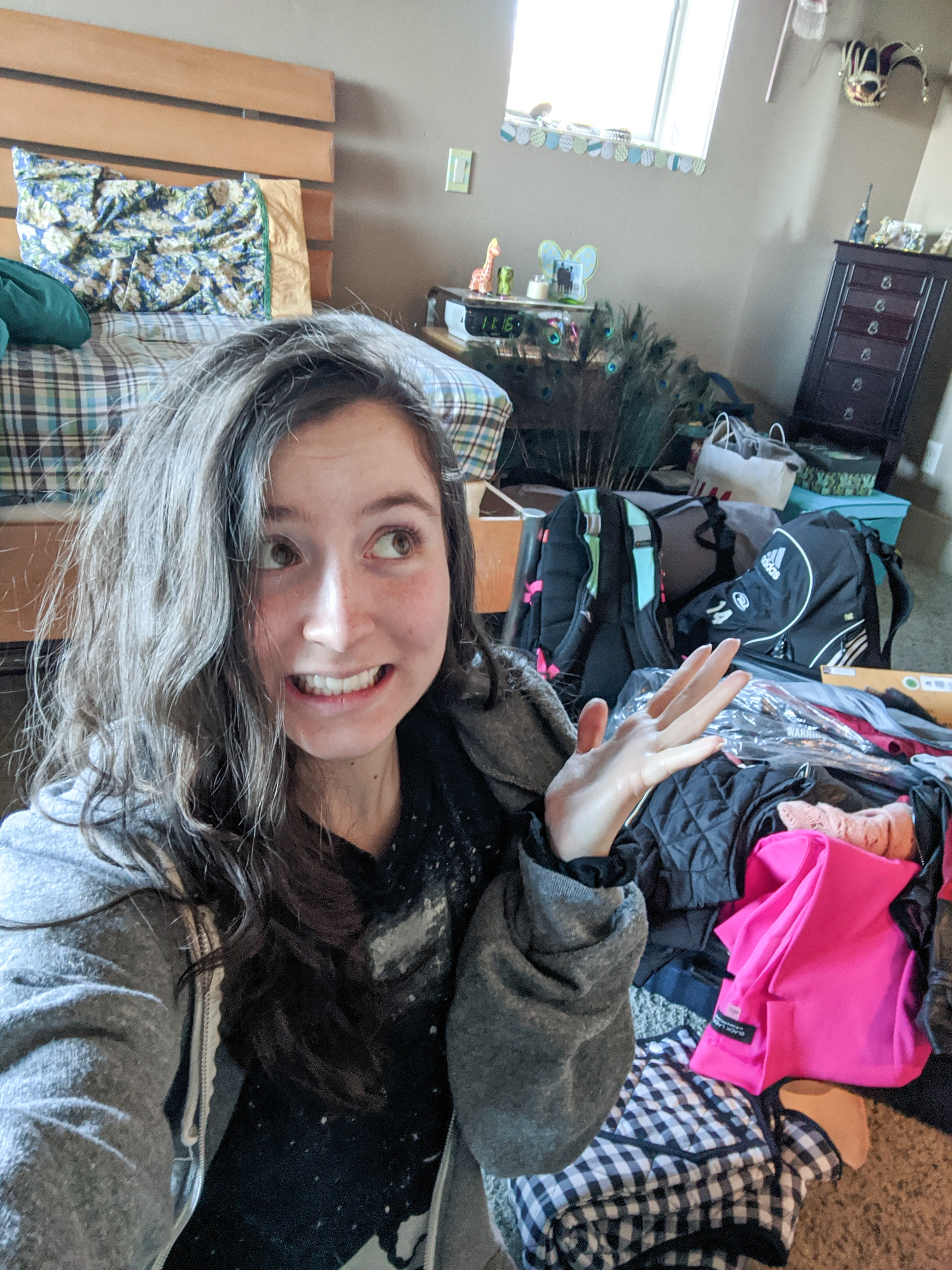 Unpacking, college fashion blogger, online learning