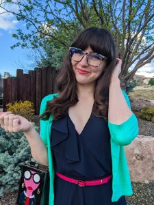 New Girl outfits, Jessica Day style, faux bangs tutorial