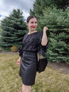 scarlet magazine, all black outfit, Jane Sloan style