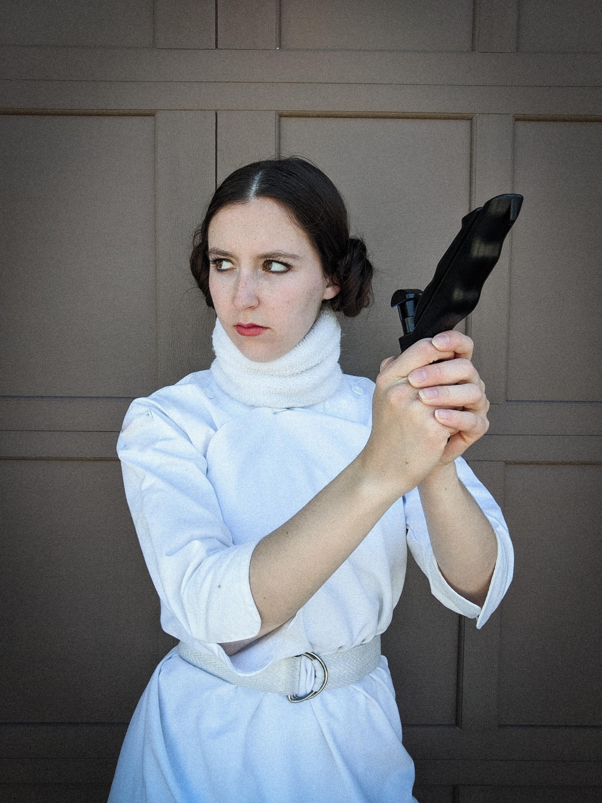 Princess Leia costume, quarantine activities, homemade costume