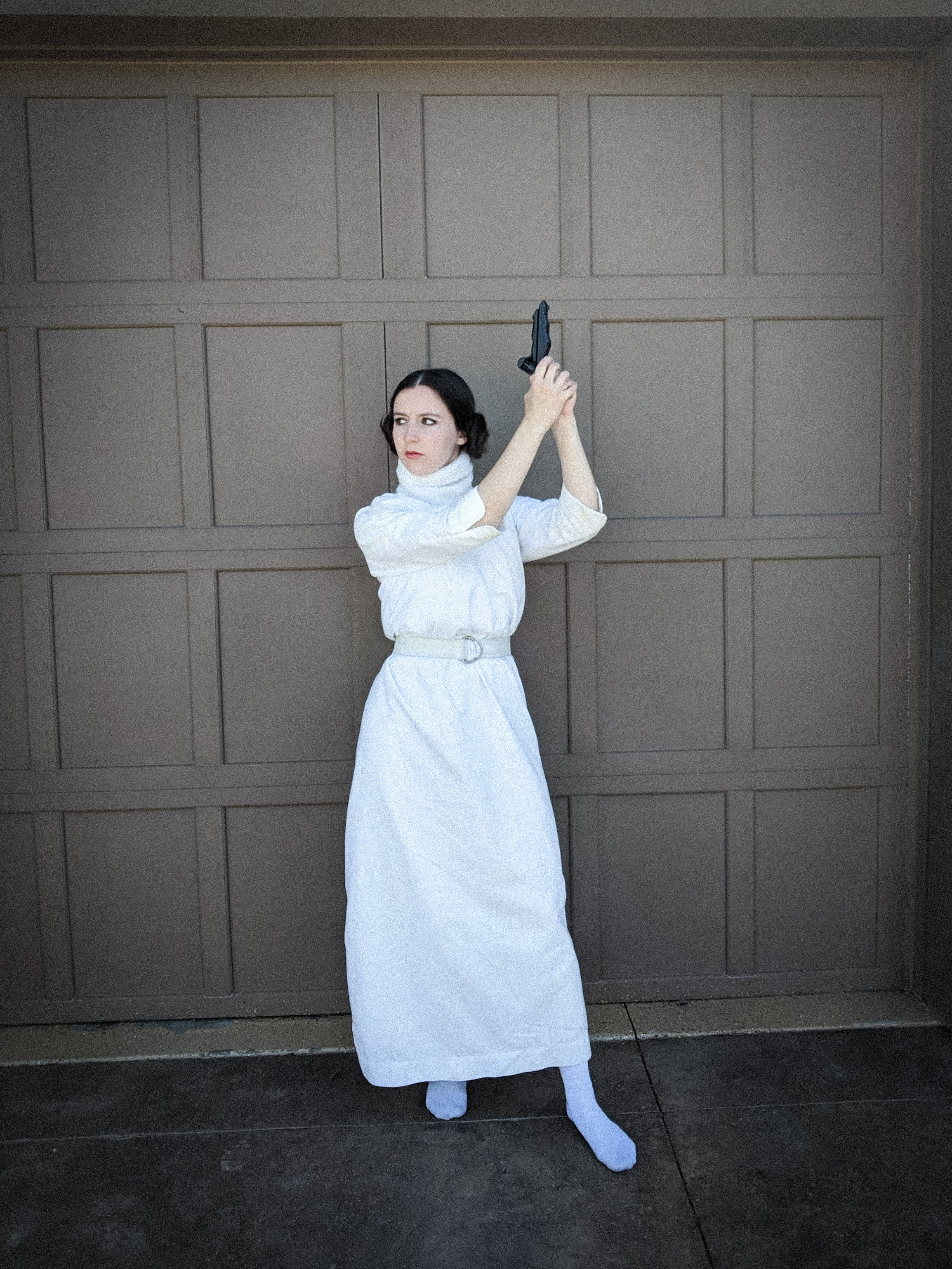 Princess Leia costume, homemade costume, Star Wars day