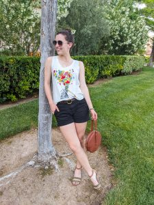 floral tank top, summer outfit, casual summer style