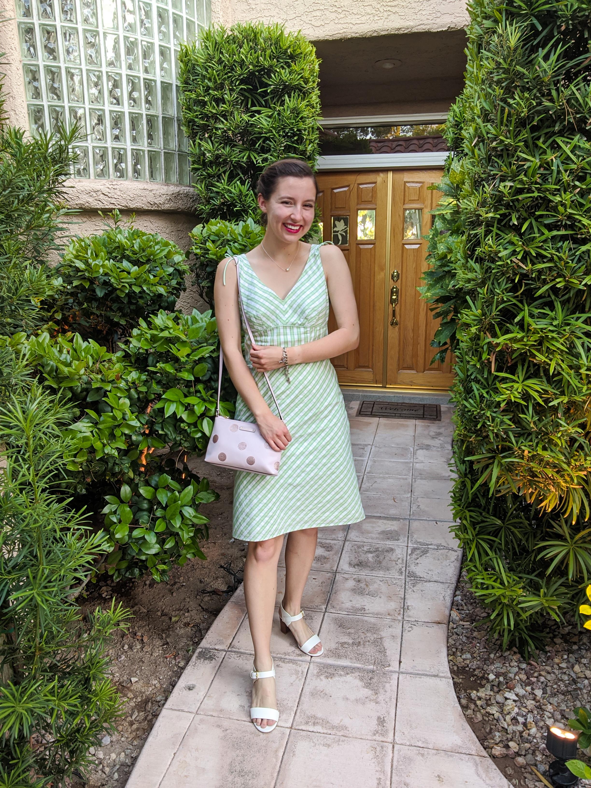 green-sundress-elegance-retro-style-white-heels